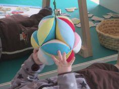 Žoga na elastiki - obešanka