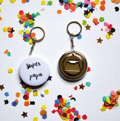 Porte-clés decapsuleur cadeau pour Super papa