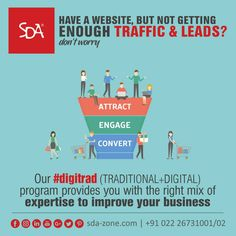 With the right mix of Digital & Traditional marketing, we help your website reach a larger audience and get you more leads! Reach out to us today at 022 26731001 / 02 www.sda-zone.com #WebDevelopment #DesignWebsite #Website #DigitalMarketing #TraditionalMarketing #Marketing #leads #websitetraffic #business #growth #prosper #digitalagency