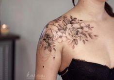 Rose Tattoos For Men, Trendy Tattoos, New Tattoos, Tattoos For Guys, Tatoos, Black Tattoos, Tribal Tattoos, Shoulder Tattoos For Women, Sleeve Tattoos For Women
