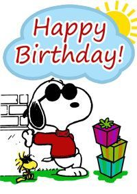 snoopy birthday cards free | Snoopy Birthday Card - Print it now