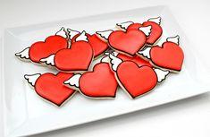 heart with wings DIY Cookies