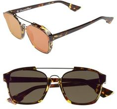 a4e2a79e6bc Shop for Women s Abstract Brow Bar Sunglasses - Spotted Havana  Green by Christian  Dior at ShopStyle.