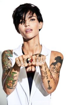 27 Best Ruby Rose Tattoos Images Blond Celebrities Rose Tattoos