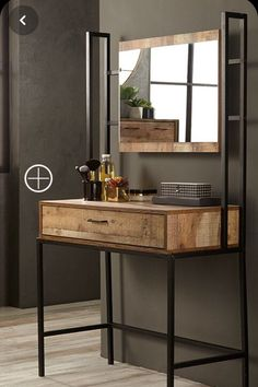 40 Amazing Dressing Table Design Ideas To Try Asap Welded Furniture, Iron Furniture, Steel Furniture, Woodworking Furniture, Home Decor Furniture, Industrial Furniture, Kitchen Furniture, Diy Home Decor, Furniture Design