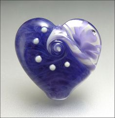 LILAC LOVE - Lampwork Heart Focal Bead | Flickr - Photo Sharing!