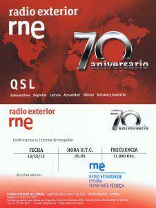QSL Radio Exterior de España