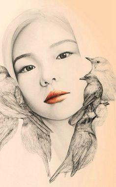 женские образы от корейской художницы-9
