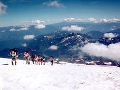 Hike to Camp Muir (10,000' on Mt Rainier)