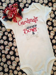 Bling'd out STL cards babygirl onesie and bow outfit