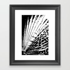 Spiked Palm Framed Art Print by Vikki Salmela, new, #contemporary #bold #black and #white #tropical #palm #graphic #art for #office #home #gift or just because you gotta have it! Coordinating products are available for #home #tech and #fashion.