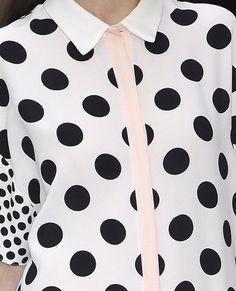 Polka dots and pale stripe.