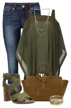 """""""Untitled #2781"""" by mzmamie ❤ liked on Polyvore featuring A Peace Treaty, Yves Saint Laurent, Kendra Scott and Joie"""
