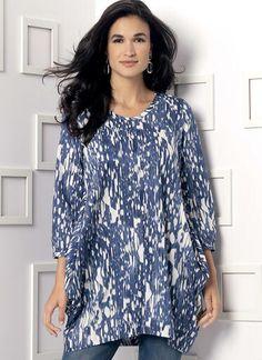 V9171   Misses' Side-Drape Tunic   Vogue Patterns