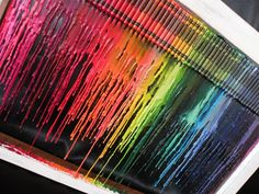Love the crayon melting on glass effect!
