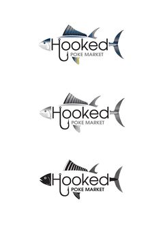 "Hooked poke market restaurant logo at the beach Logo Design by dsbgraphics, opening a new restaurant location called ""Hooked"" we currently have a restaurant that this will be a sub category of, so would like to possibly inc. Modern Logo Design, Branding Design, Beach Logo, Restaurant Logo, Latest Fonts, Waves Logo, Hawaiian Art, Layer Style, Psd Templates"