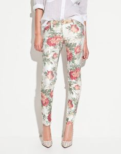 Calça Floral TRF Zara – Madame Chica