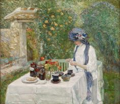 French Tea Garden (also known as The Terra-Cuite Tea Set) Date: 1910 Artist: Frederick Childe Hassam