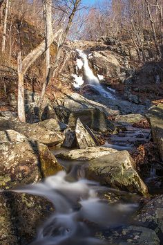 Another view of the Upper Whiteoak Falls, about miles down from the Whiteoak Skyline Drive Trailhead. This is a 45 sec exposure using a 10 stop ND filter. Shenandoah National Park, Waterfalls, National Parks, Skyline, Photo And Video, Pictures, Outdoor, Nature, Photos