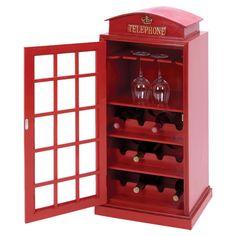 London Phone Booth Wine Rack