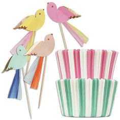 Pretty Birdies Cupcake Kit - Layer Cake Shop - http://www.layercakeshop.com/collections/kits_gifts/products/pretty-birdies-cupcake-kit