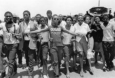 "Omar Badsha's photo ""Students marching to funeral of COSAS [Congress of South African Students] member, KwaMashu from South Africa: The Cordoned Heart Black Panther Pics, Emory Douglas, Oral History, My Youth, My Black, Funeral, South Africa, The Past, African"