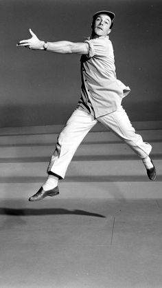 Gene Kelly, 1951, on the set of Singin' in the Rain