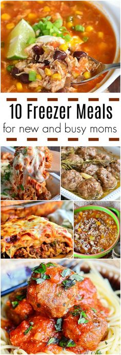 10 Freezer Meals for New and Busy Moms and Tips for Freezing Meals Read tips about how to freeze food and what are the best kinds of meals to be froz… – Organics® Baby food Best Meals To Freeze, Best Freezer Meals, Freezable Meals, Make Ahead Meals, Freezer Cooking, Quick Meals, No Cook Meals, Soups To Freeze, Meals Good For Freezing
