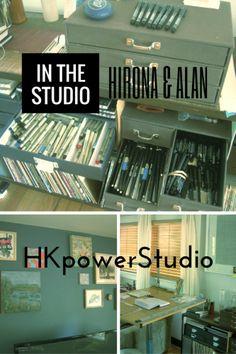 In The Studio: Hirona and Alan's Interview #inthestudio #artiststudio #studioorganizing #hkpowerstudio