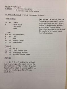 Perogies - page 1