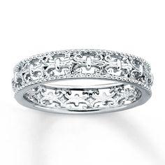 Stackable Ring Fleur-de-Lis Sterling Silver