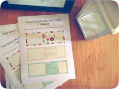 wrap-around address labels {free Christmas printable} - Cardigan Way