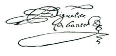 Firma de Miguel de Cervantes Saavedra