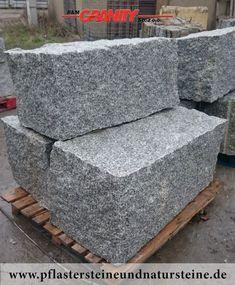 Firma B&M GRANITY – GRANIT-MAUERSTEINE aus Polen (grau), diverse Mauersteine- (Quader-) Sorten aus Granit, Sandstein, Schiefer…für den Garten. Auch solche Steine werden mit dem Firmenfuhrpark (B&M GRANITY) an Kunden geliefert.   http://www.pflastersteineu