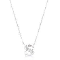 Initial S Crystal Pendant