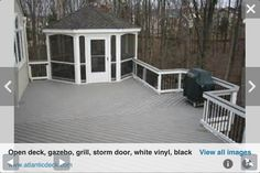 Deck with gazebo and grill space