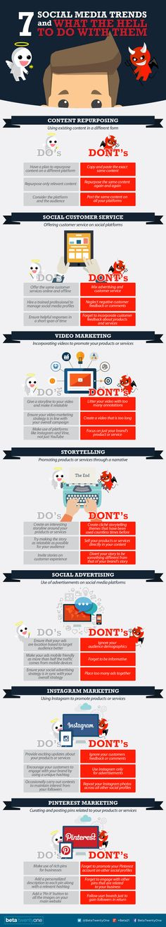 SOCIAL MEDIA - 7 #SocialMedia Trends and What The Hell To Do With Them :-) #marketing #infographic.