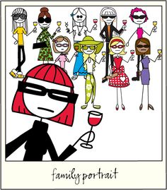 I TOTALLY want to have a wine party with my bratty sisters serving Middle Sister Wines...there's one for each of us! Middle Sister Wines.
