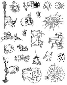 Full Sheet Of Halloween Rubber Stamp Dies Cat Ferret Frog Etsy - Full Sheet Of Halloween Rubber Stamps As Shown Approximately Unmounted Rubber Stamp Dies No Wood Or Cushion Included This Is A Deeply Etched Finely Detailed Unmounted Rubber Stamp Sheet # Stick N Poke, Stick Poke Tattoo, Easy Tattoos To Draw, Desert Tattoo, Halloween Acrylic Nails, Spooky Tattoos, Hand Drawing Reference, Biker Tattoos, Little Doodles