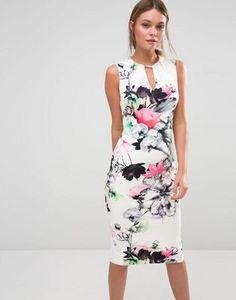 Vestido de tubo de neopreno con estampado floral Lecce de Coast