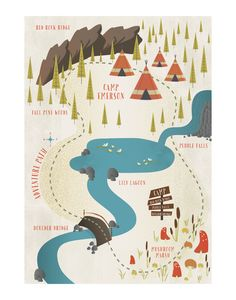 Click to see 'Adventure Map' on Minted.com, 30x40. Adorable for a little boys room