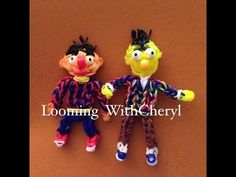 Rainbow Loom BERT from Sesame Street. Tutorial is Now on YouTube! Gomas.  Figures Charms. Please Subscribe ❤️❤ m.youtube.com/user/LoomingWithCheryl