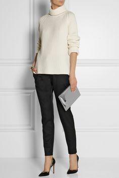 Antonio Berardi|Ribbed cashmere turtleneck sweater|NET-A-PORTER.COM