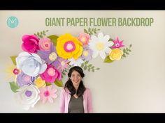 DIY Full Giant Paper Flower Backdrop – AvantiMorocha Blog