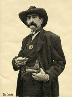 """Etching of """"Seth Bullock, Deadwood Gulch 1876"""" by Bob Coronato."""