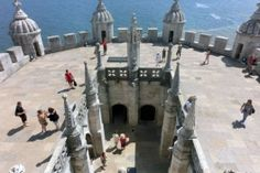 Upper terrace of the Torre de Belem in Portugal. Check out our detailed city guide! Belem Portugal, Algarve, Mount Rushmore, Terrace, Coast, Mountains, City, Check, Travel