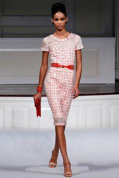 Oscar de la Renta Spring 2011 Ready-to-Wear Fashion Show - Chanel Iman
