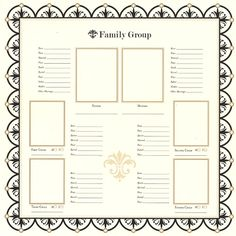 Bazzill Basics - Heritage Collection - 12 x 12 Paper - Family Group Chart 1 at Scrapbook.com $1.13