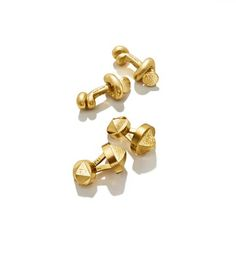 David Webb - Tool Chest Collection - Knotted Nail Cufflinks in Hammered Gold & Bastille Cufflinks. Mens Fashion Shoes, Men's Fashion, David Webb, Hammered Gold, Mens Clothing Styles, Bastille, Cufflinks, Stud Earrings, Jewels