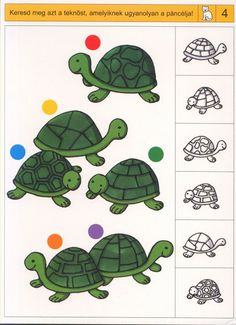 visuele discriminatie voor kleuters / preschool visual discrimination Jungle Preschool Themes, Preschool Worksheets, Preschool Learning, Visual Perception Activities, Carnival Of The Animals, Speech Therapy Games, Turtle Crafts, Library Activities, Gross Motor Activities